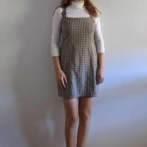 Vintage Minimalist Check Pinefore Dress